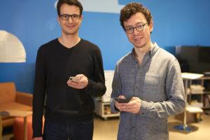 Severin Hacker et Luis von Ahn. les fondateurs de Duolingo