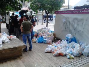 collecte de vivres, le samedi 26 septembre, au centre ville.