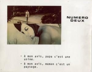 Photogramme du film Numéro Deux, 1975, Jean-Luc Godard