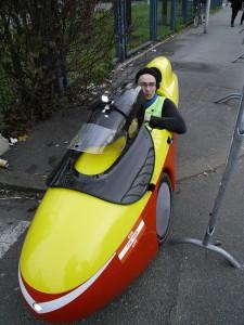 Urpo Taskinen et son engin interdit d'accès à la COP 21