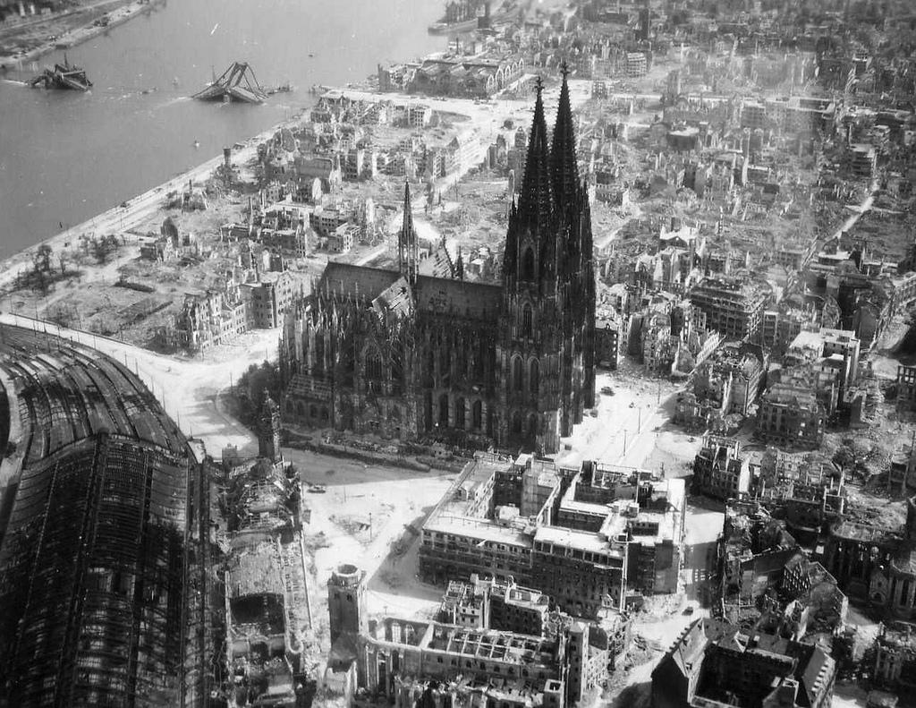 Cologne en 1945.