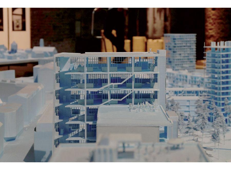 le projet Neubau de Bernhardt und Leeser. (Photo Julia Kaulen)