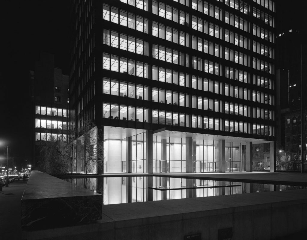 Seagram Building,  Mies van der Rohe, Philip Johnson