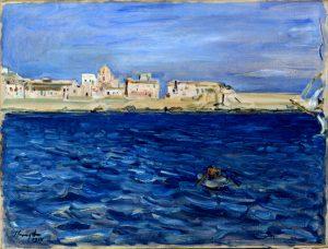 Max Slevogt: Einfahrt in den Hafen von Syrakus, 1914, domaine public