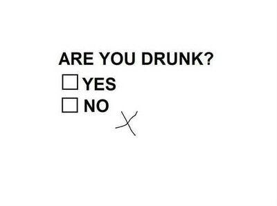 Image. Etes-vous alcoolisé ? Il n'est pas toujours facile de mettre la croix au bon endroit…