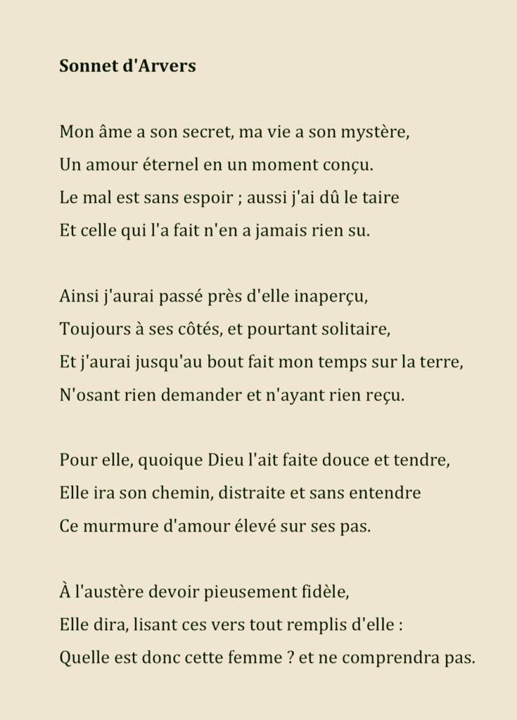 Alexis Félix Arvers Une Muse énigmatique Un Sonnet Et