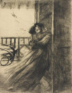 L'étreinte amoureuse, 1886, Albert Besnard