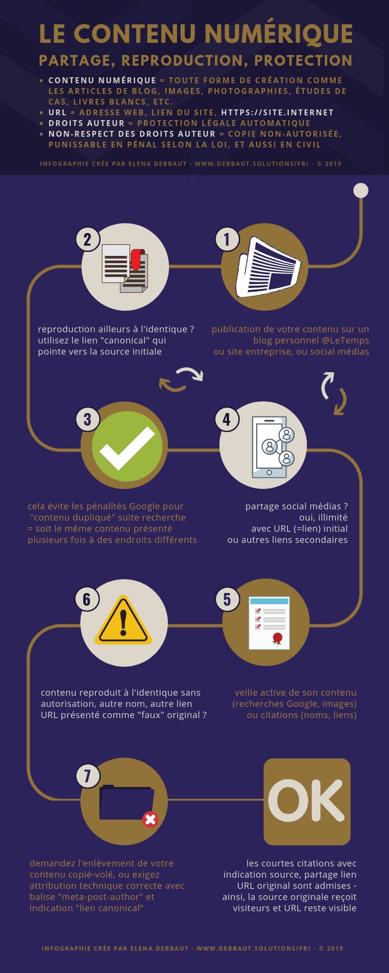infographie pour la gestion de son contenu numérique sur Internet - Elena Debbaut