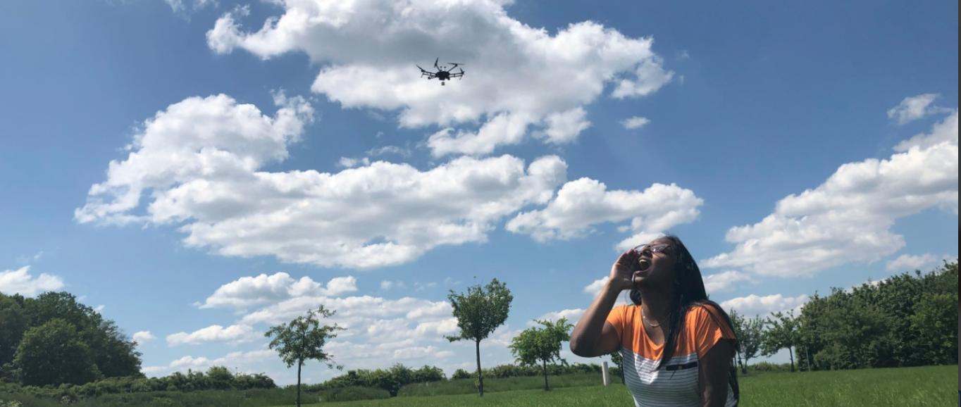 Un drone capable de localiser les personnes qui appellent au secours