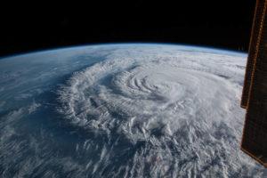 Vue de l'Ouragan Florence en septembre 2018 (c) NASA