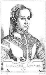 portrait gravé de Louise Labé
