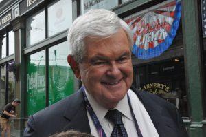 """Newt Gingrich, ex-président de la Chambre des représentants et longtemps pressenti pour être le """"VP"""" de Donald Trump ©Stéphane Bussard"""
