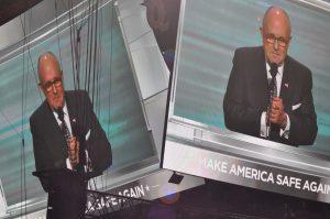 Discours enflammé de l'ex-maire de New York Rudy Giuliani ©Stéphane Bussard