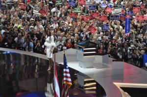 Melanie Trump: mission accomplie bien qu'elle soit accusée d'avoir plagié le discours de Michelle Obama de 2008 ©Stéphane Bussard