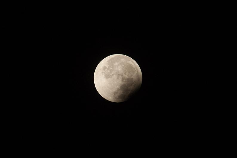 L'éclipse touche à sa fin