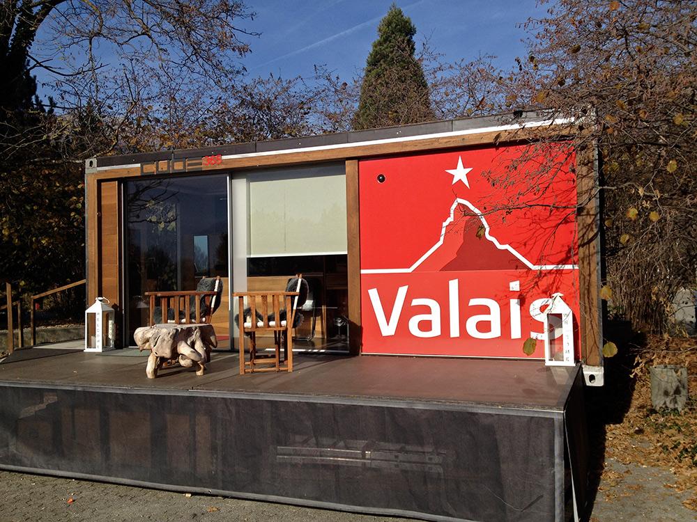 Le Cube 365 a passé chaque semaine de 2015 dans un endroit différent du canton du Valais