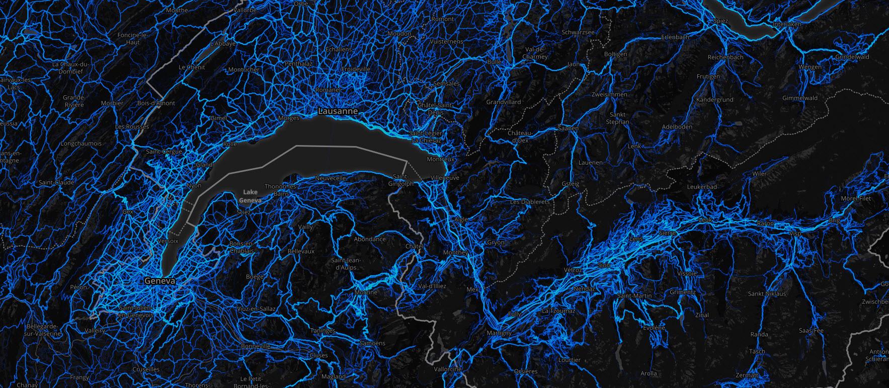 Strava_heat_map_Suisse_romande