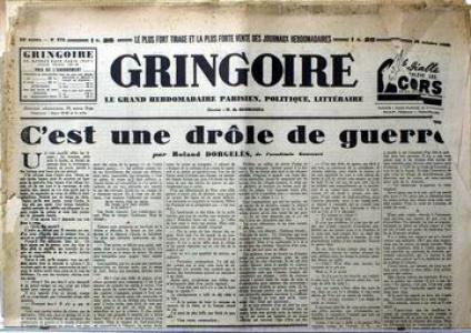 Une drôle de guerre - Dorgelès - Gringoire