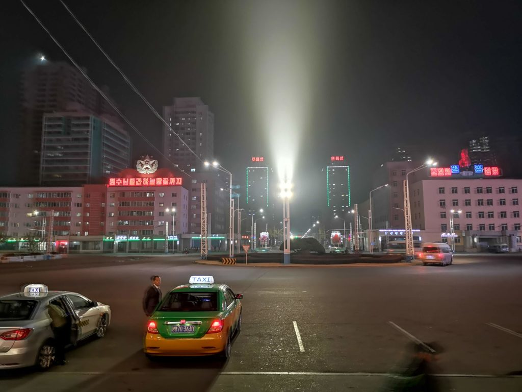 Taxis in Pyongyang