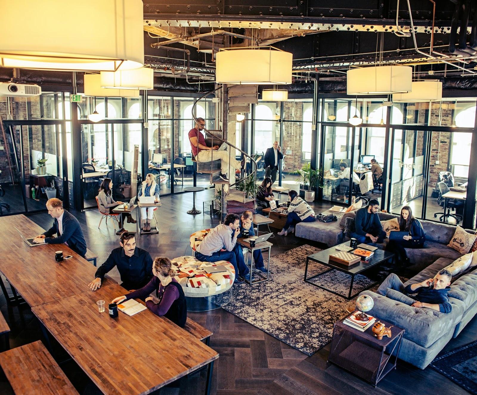 Espaces de co working des nouveaux bureaux pour une for Creative consulting firms nyc