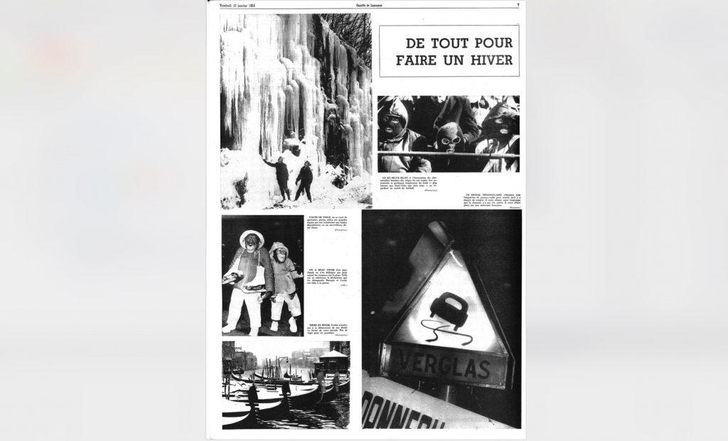 10 janvier 1964: de simples photos de l'hiver à travers le monde