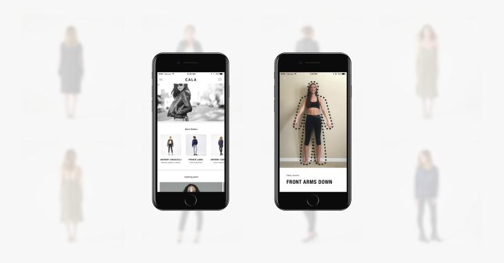L'application CALA permet d'adapter des vêtements de marque à votre corps grâce aux photos de l'iPhone