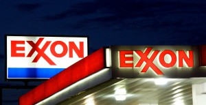 "(FILES) An Exxon sign is seen at a station in this September 20, 2008 file photo in Manassas, Virginia. US oil giant ExxonMobil on July 31, 2014 reported higher second-quarter profits despite pumping less oil and gas than it did a year ago. Exxon, the biggest US oil company and the second-largest US company in terms of market capitalization after Apple, said earnings came in at $8.8 billion, up 28 percent from the year-ago level. ""ExxonMobil's financial results were achieved through strong operational performance and portfolio management,"" said chief executive Rex Tillerson. ""We continue to enhance shareholder value by funding capital projects and delivering robust shareholder returns through dividends and share purchases."" Results translated into earnings per share of $2.05, 19 cents above analyst forecasts.AFP PHOTO/Karen BLEIER/FILESKAREN BLEIER/AFP/Getty Images ** OUTS - ELSENT, FPG - OUTS * NM, PH, VA if sourced by CT, LA or MoD **"
