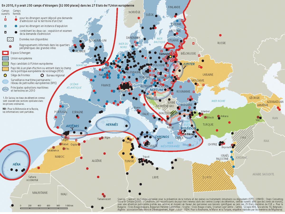 Camps en Europe