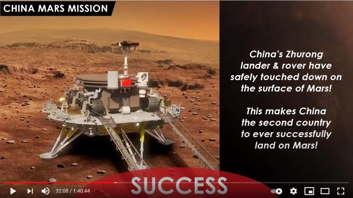 Les Chinois nous disent avoir atterri sur Mars