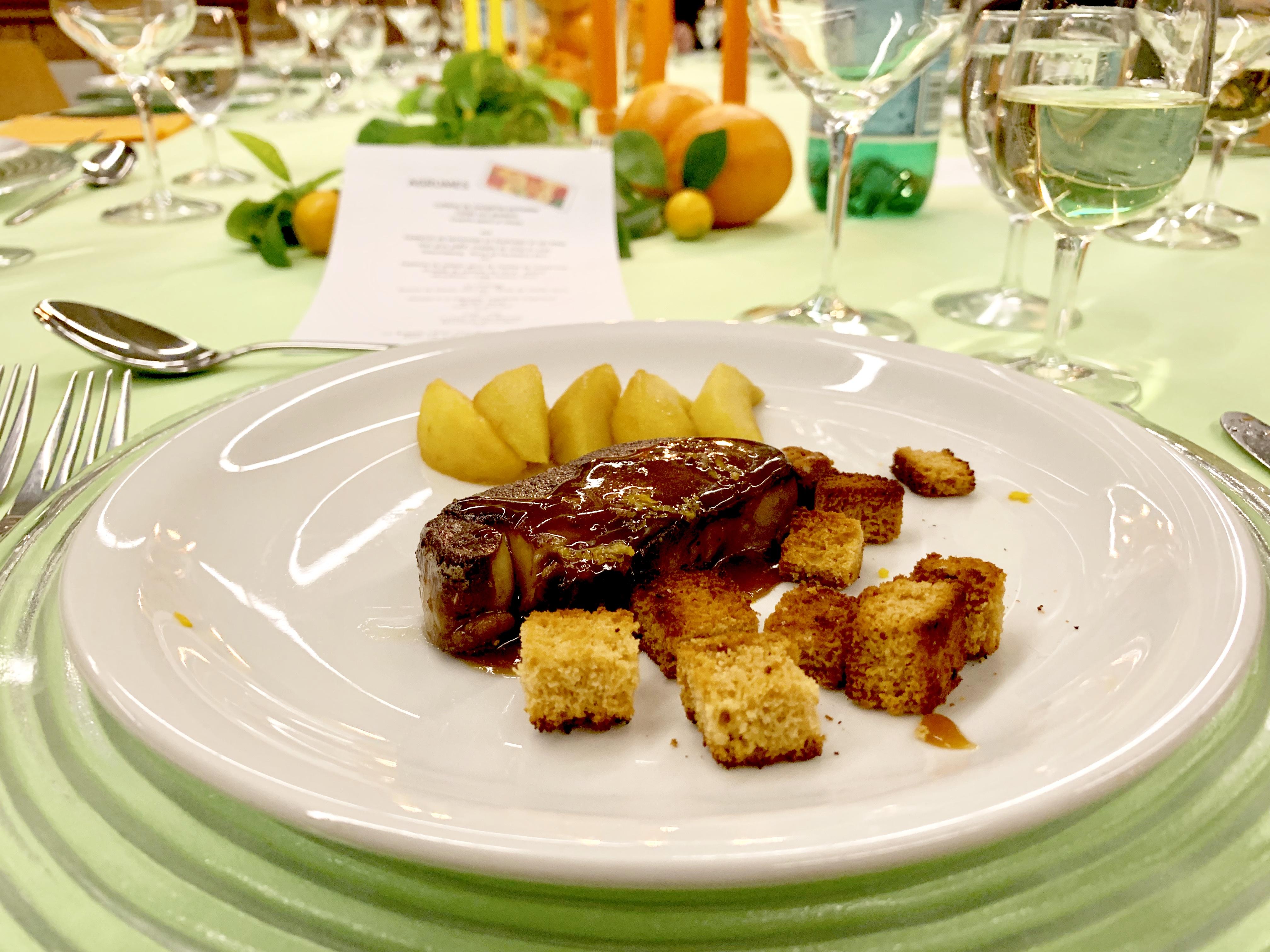 Foie gras poêlé au yuzu