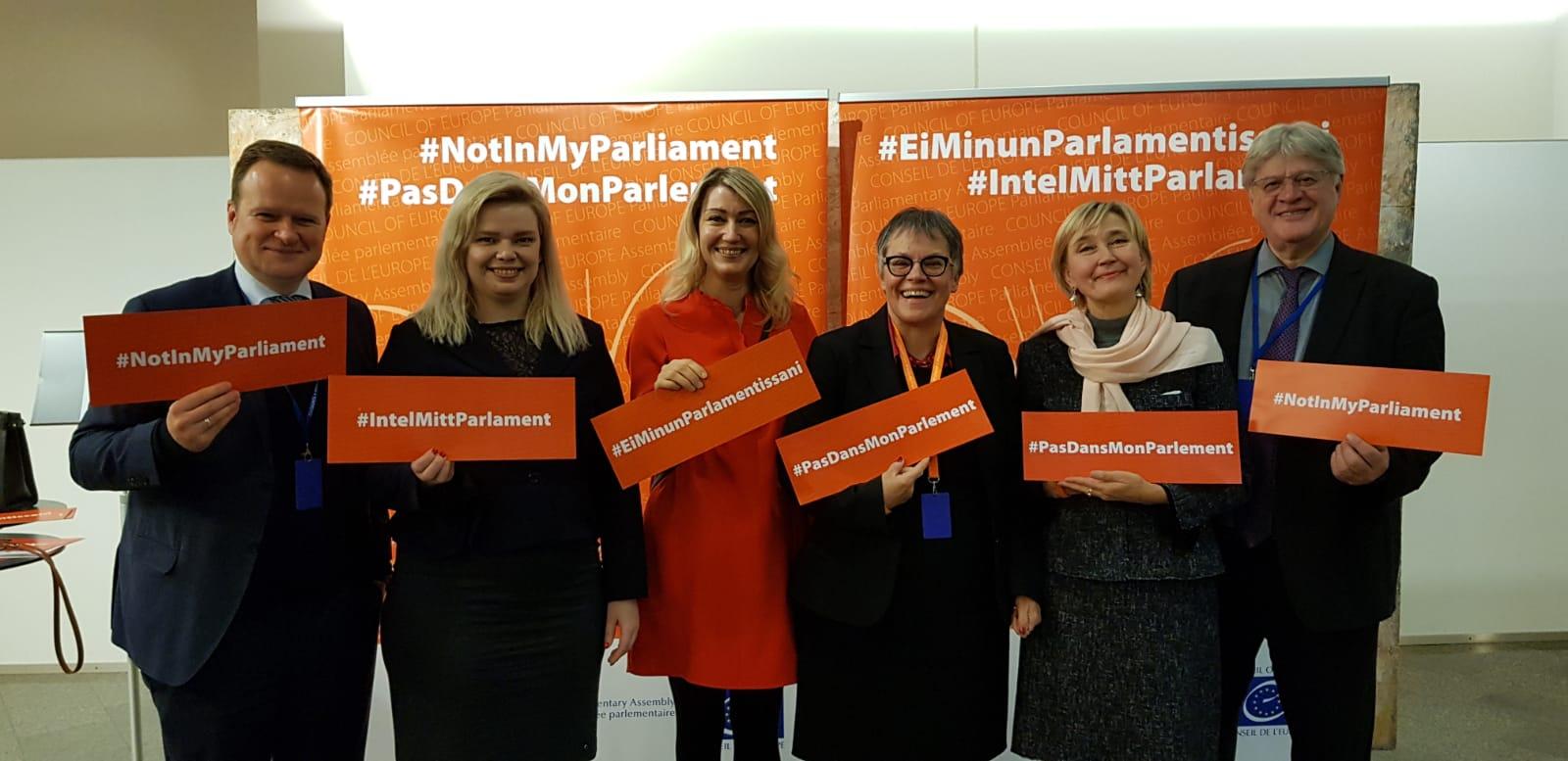 L'Assemblée parlementaire du Conseil de l'Europe lance l'initiative «Sexisme, abus sexuels: #PasDansMonParlement»