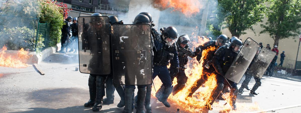 Police violentée