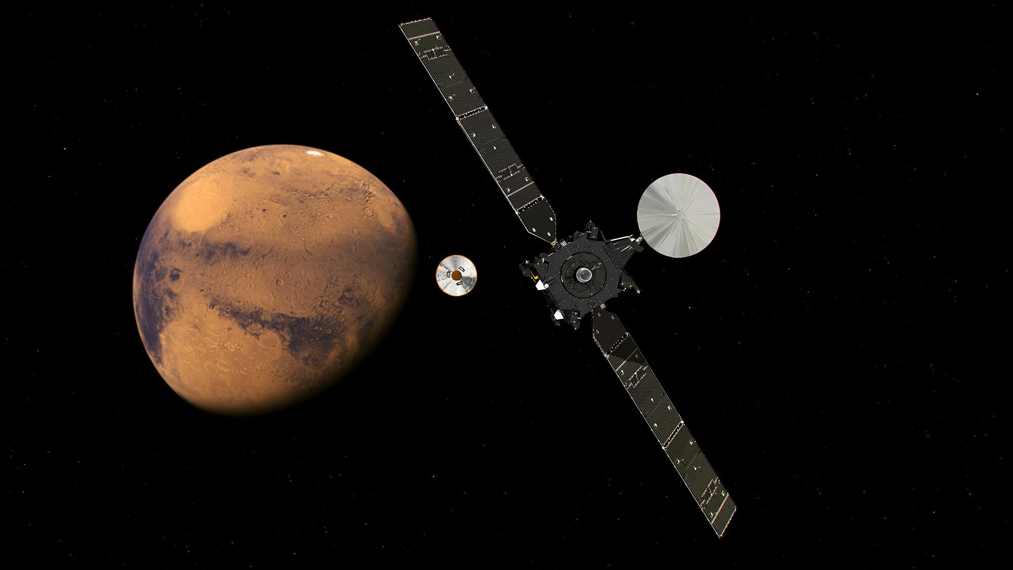 L'orbiteur TGO de l'ESA a été capturé par la planète Mars et va rejoindre progressivement son orbite d'observation