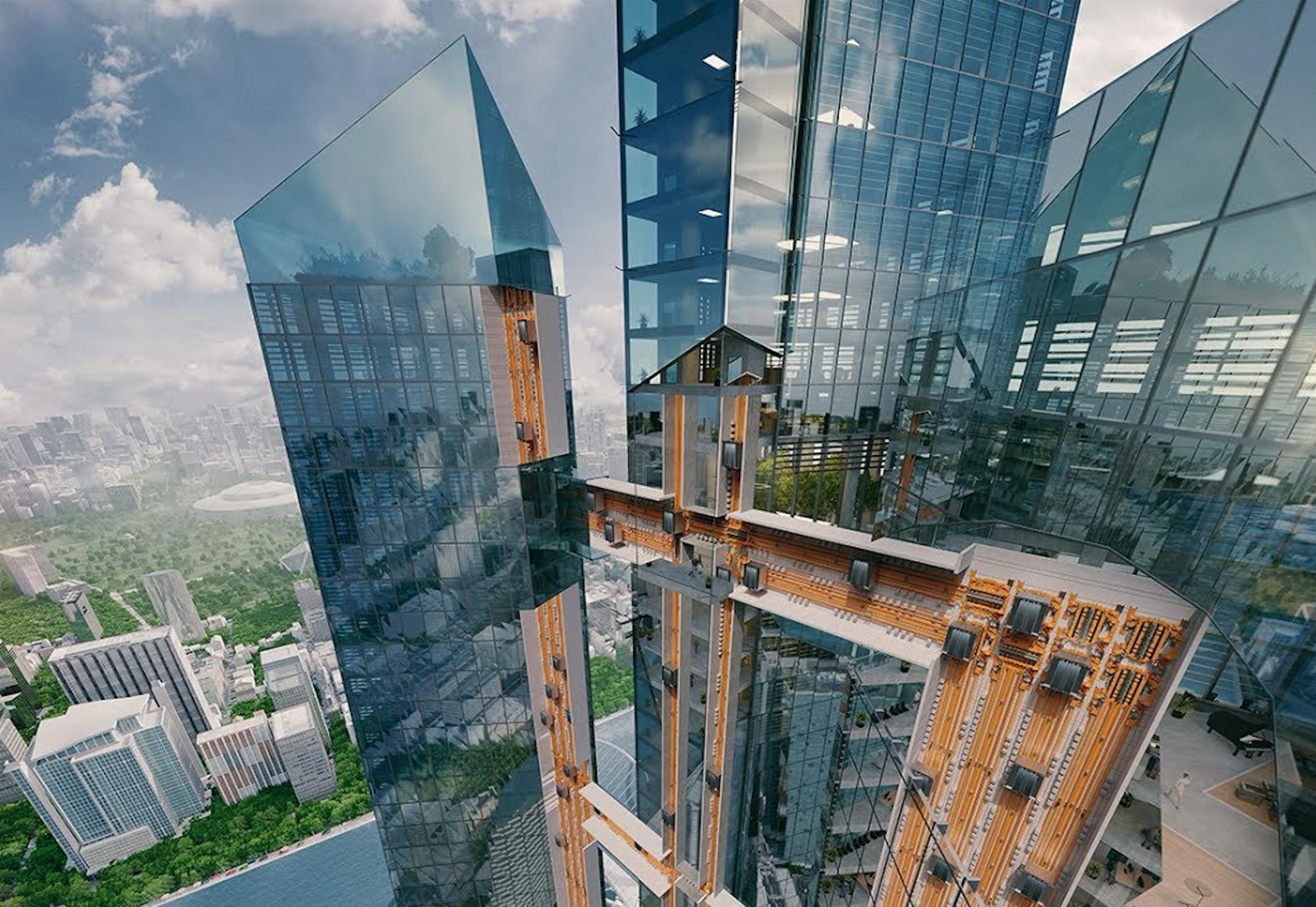 Comment l'ascenseur sans câble va révolutionner le design de gratte-ciels