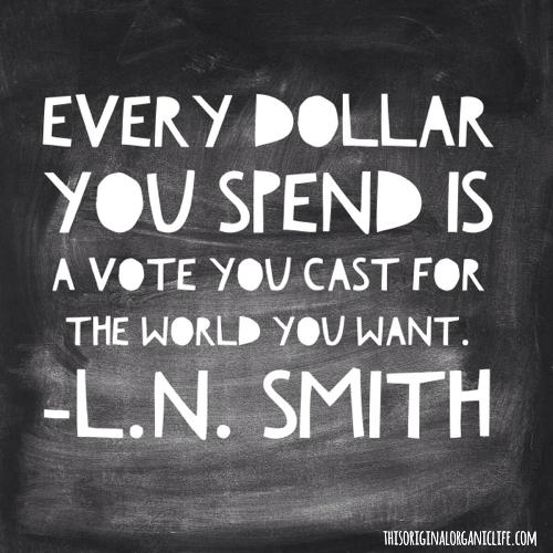 Chaque franc est un bulletin de vote!